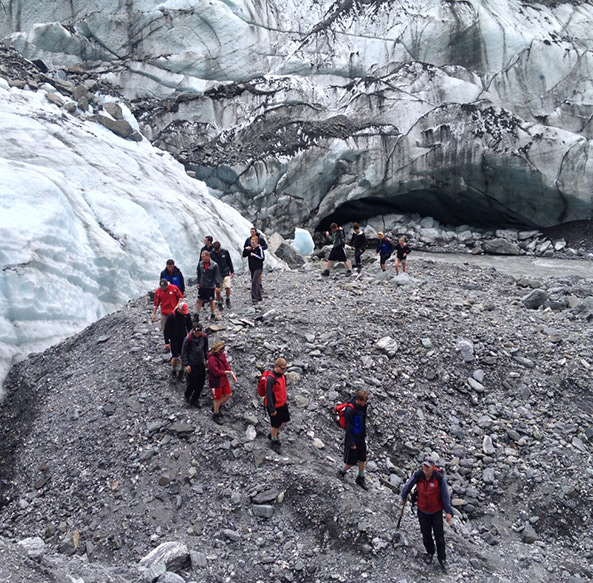 Photo of hike over glacier in New Zealand