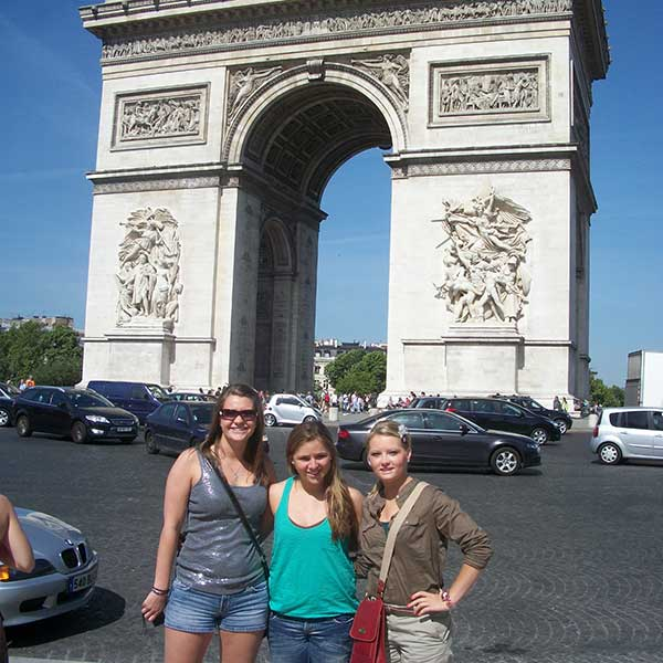 Engler students in Paris, France